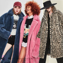 Fur Plain Long Oversized Cashmere & Fur Coats