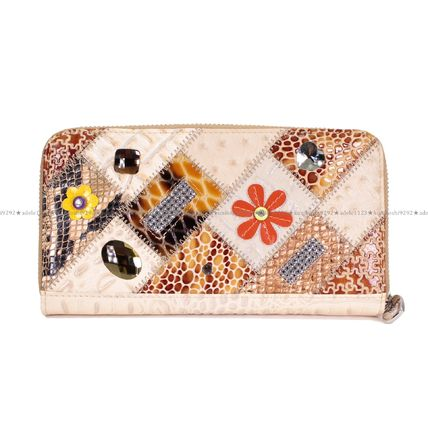 Heart Other Animal Patterns Leather Handmade Long Wallets