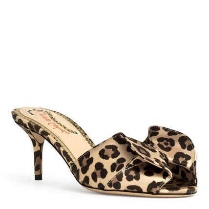 Leopard Patterns Open Toe Other Animal Patterns Pin Heels