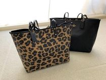 Coach Leopard Patterns A4 Plain Office Style Totes
