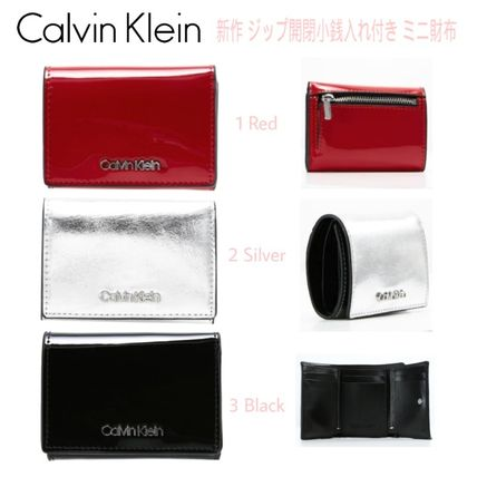 Unisex Faux Fur Blended Fabrics Plain Folding Wallets