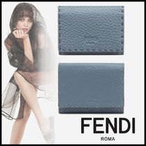 FENDI SELLERIA Leather Card Holders