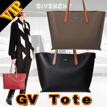 GIVENCHY Unisex Calfskin A4 Bi-color Office Style Totes
