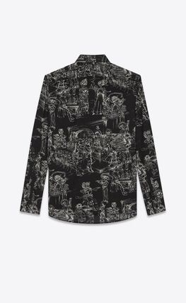 Saint Laurent Shirts Long Sleeves Cotton Shirts 3