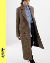 ASOS Other Check Patterns Casual Style Wool Long Coats