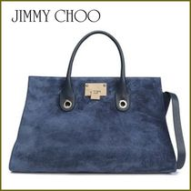 Jimmy Choo Suede 2WAY Plain Elegant Style Totes