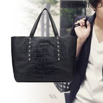 Jimmy Choo Star Studded Leather Python Totes