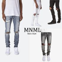 MNML Street Style Plain Cotton Joggers Jeans & Denim