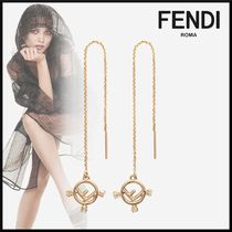 FENDI Initial Chain Home Party Ideas Elegant Style Earrings
