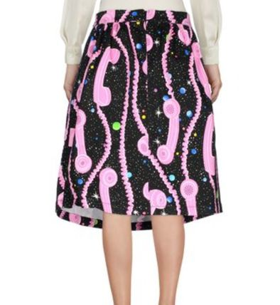 Flared Skirts Tropical Patterns Street Style Medium