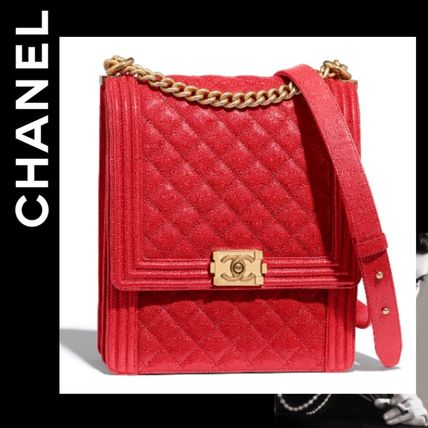 264a2f70857885 CHANEL BOY CHANEL 2019 Cruise Calfskin Chain Plain Handbags (AS0132 ...