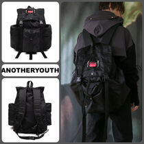 ANOTHERYOUTH Casual Style Unisex Plain Backpacks