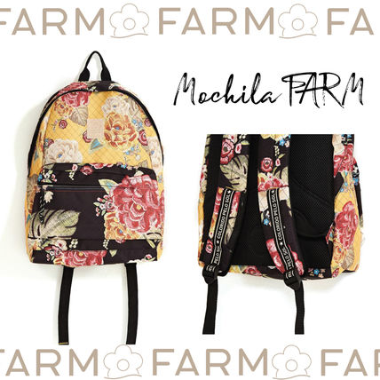 Flower Patterns Tropical Patterns Casual Style Backpacks
