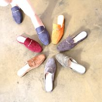 Platform Casual Style Suede Street Style Plain Slippers