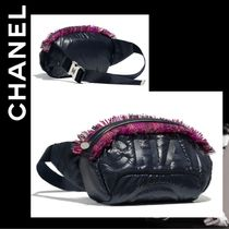 CHANEL Casual Style Nylon Plain Bags