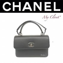 CHANEL ICON Street Style 2WAY Chain Plain Elegant Style Handbags