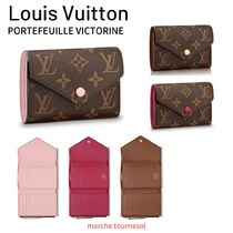 Louis Vuitton MONOGRAM Monogram Canvas Plain Folding Wallets