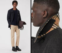 Burberry Other Check Patterns Wool Plain Peacoats Coats