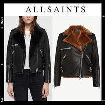 ALLSAINTS SPITALFIELDS Plain Leather Biker Jackets