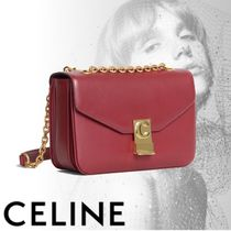 CELINE Calfskin 2WAY Chain Plain Bold Handbags