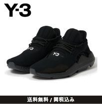 Y-3 Unisex Street Style Plain Leather Sneakers