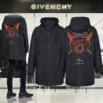 GIVENCHY Street Style Plain Long Oversized Parkas