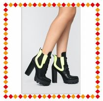 FASHION NOVA Chunky Heels Ankle & Booties Boots