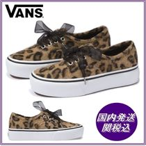 VANS AUTHENTIC Leopard Patterns Platform Platform & Wedge Sneakers