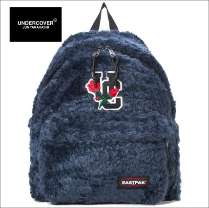 Casual Style Unisex Faux Fur Blended Fabrics Plain Backpacks