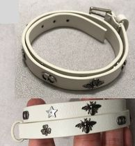Christian Dior Star Casual Style Blended Fabrics Studded Leather Bracelets