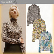 ANDERSSON BELL Leopard Patterns Street Style Long Sleeves Turtlenecks