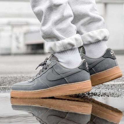 Nike AIR FORCE 1 2018 19AW Street Style Plain Sneakers (AQ0117 001)