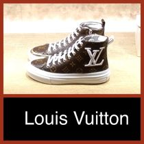 Louis Vuitton Monogram Plain Toe Casual Style Unisex Leather