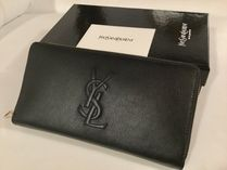Saint Laurent Leather Long Wallets