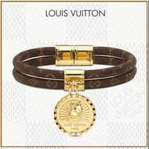 Louis Vuitton MONOGRAM Blended Fabrics Animal Street Style With Jewels