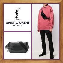Saint Laurent Lambskin 2WAY Plain Messenger & Shoulder Bags