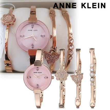 Metal Round With Jewels Elegant Style Analog Watches
