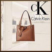 Calvin Klein Bag in Bag A4 Plain Leather Elegant Style Totes