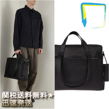 A4 2WAY Plain Leather Bags