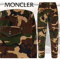 MONCLER Printed Pants Camouflage Corduroy Patterned Pants