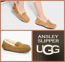 UGG Australia ANSLEY Moccasin Round Toe Rubber Sole Casual Style Suede