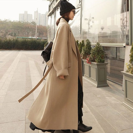More Coats Casual Style Plain Long Coats 2