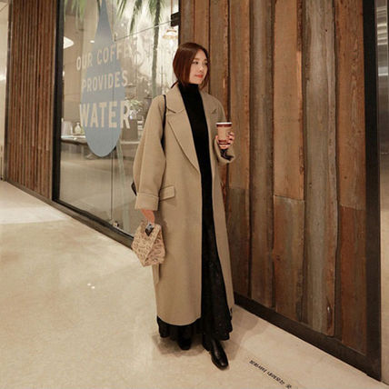 More Coats Casual Style Plain Long Coats 3