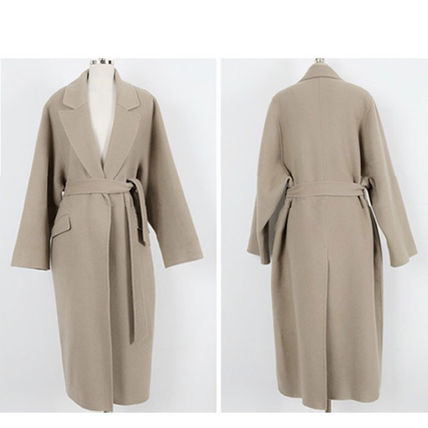 More Coats Casual Style Plain Long Coats 9