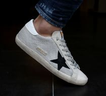 Golden Goose Driving Shoes Unisex Street Style Plain Leather Handmade