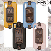 FENDI Unisex Leather Smart Phone Cases