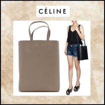 CELINE Cabas Leather Shoulder Bags