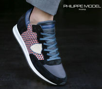 PHILIPPE MODEL PARIS Driving Shoes Unisex Street Style Plain Leather Handmade