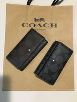 Coach SIGNATURE Leather Keychains & Holders