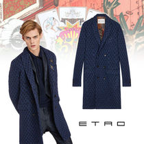 ETRO Wool Plain Long Chester Coats